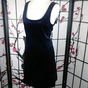 Theory Dresses - Theory Velvet Midnight Blue Sheath Dress Pockets